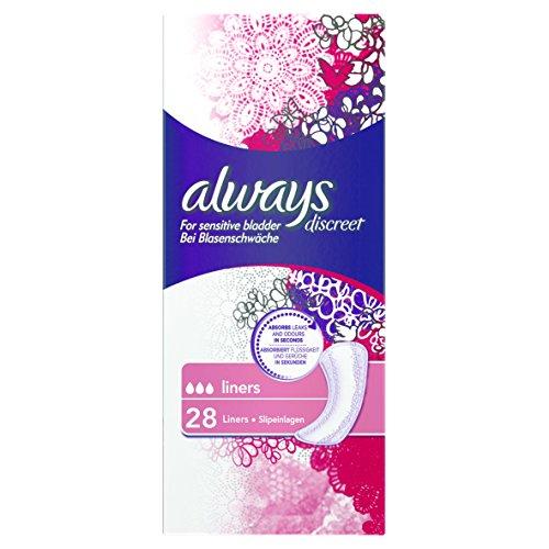 Always Discreet Slipeinlagen bei Blasenschwäche, 3er Pack (3 x 28 Stück)