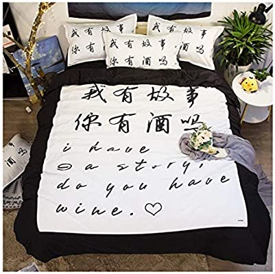 Csypyle Bettwäsche Set Heimtextilien Kreative Chinesische