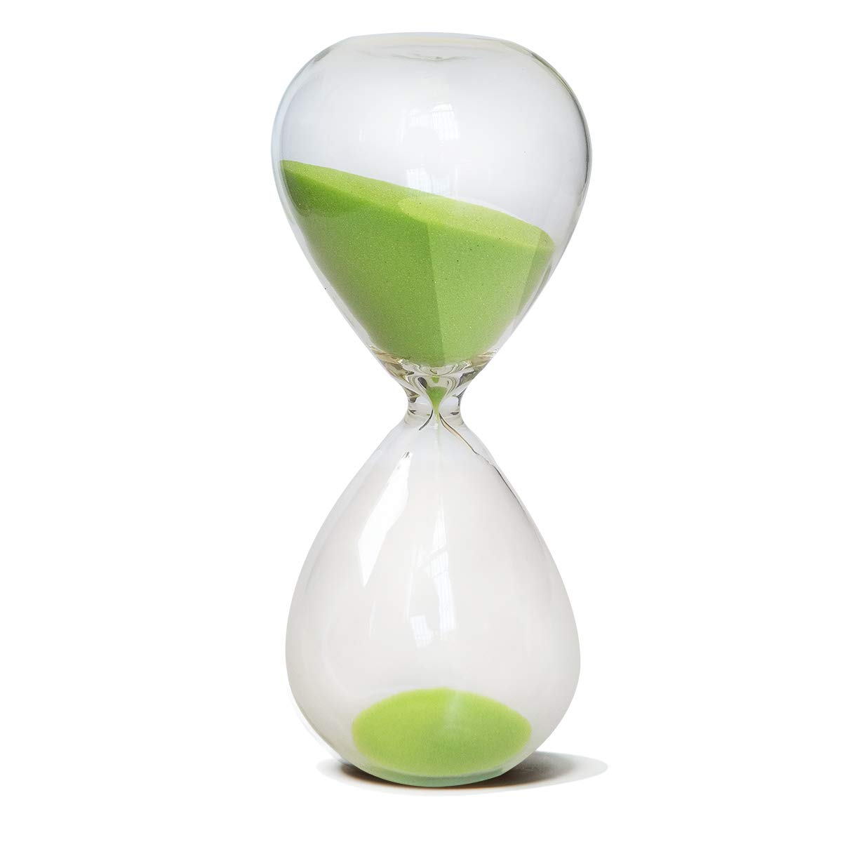 HoveBeaty Hourglass, Hand-Blown Sand Timer Set for Time Management 15 Minutes Durable Glass Construction (15 min, Black) COMINHKPR123989