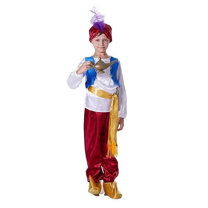 Upretty Disfraz de Halloween para niños Aladdin Lámpara árabe ...