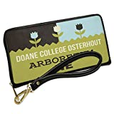Wallet Clutch US Gardens Doane College Osterhout Arboretum - NE with Removable Wristlet Strap Neonblond