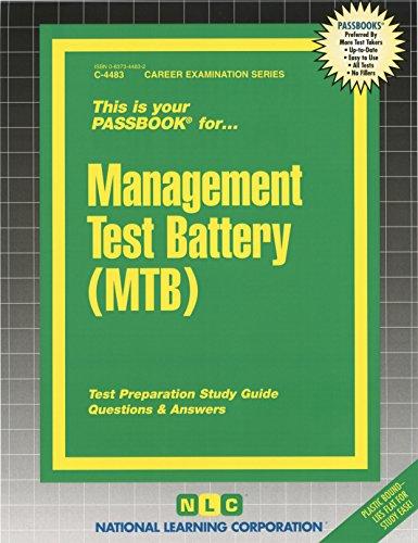 Management Test Battery (MTB) (Passbooks)