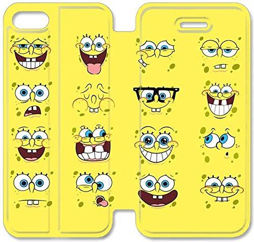 Coque iPhone 5C Coque Cuir, Klreng Walatina® 5C PU Cuir de portefeuille Coque Design By Spongebob Squarepants image Tablet T1E5Cd
