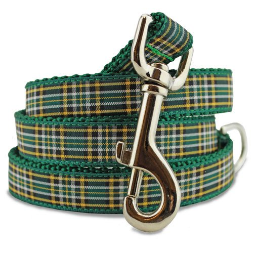 Plaid Dog Leash, Irish National Tartan