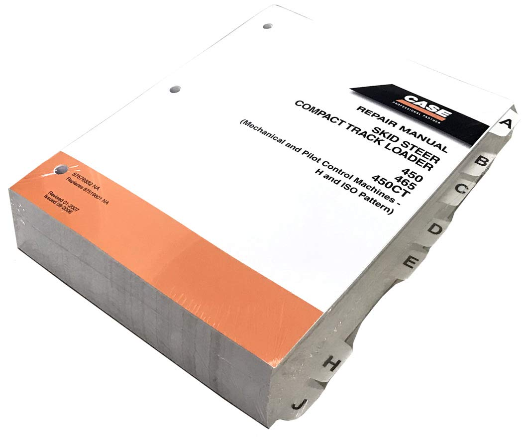 Case 450, 465, 450CT Skid Steer Workshop Repair Service Manual - Part Number # 87578832 by Case (Image #1)