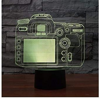 Cámara De Luz 3D Modelo Illusion Lámpara 3D Led 7 Cambio De Color ...