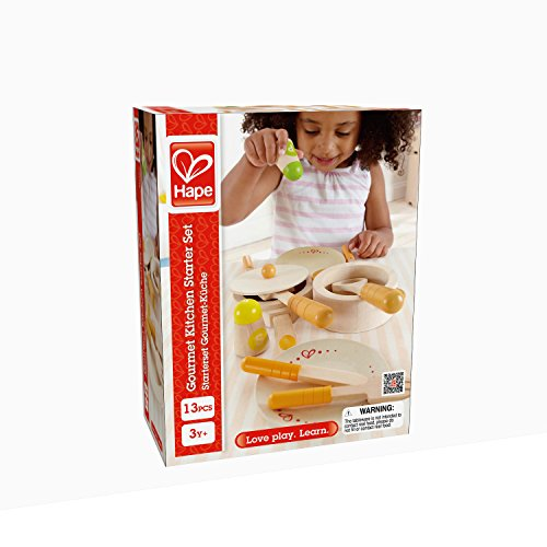 Hape Gourmet Play Kitchen Starter Accessories Wooden Play Set