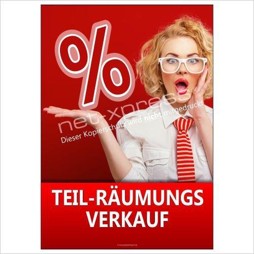 Teil-Räumungsverkaufs-Plakat A1 Cartel de Publicidad Cartel ...
