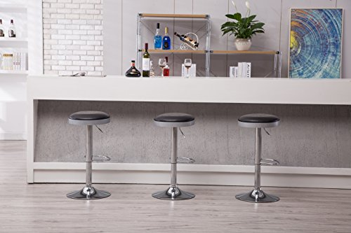 Boraam  Copley Backless Stool, 1-Pack, Adjustable Height, Black by Boraam (Image #7)