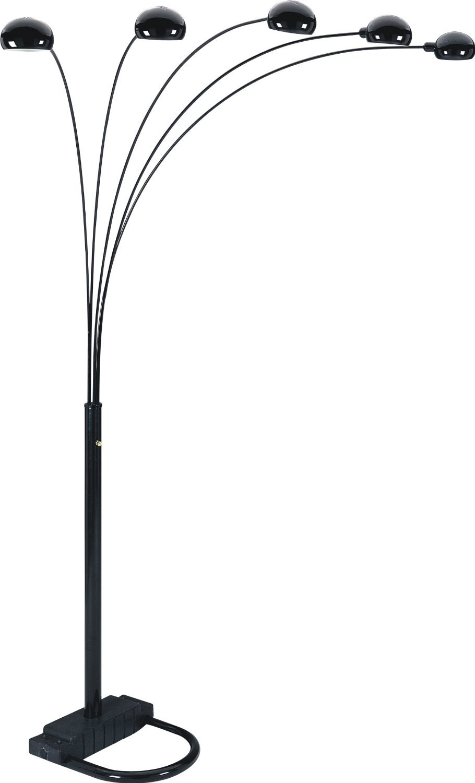 S.H. International 5-arm Arch Floor Lamp 84 H – Black