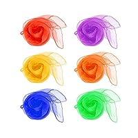 Jushen Jonglage Dance écharpes multicolores Rhythm Band Soie (60*60cm)