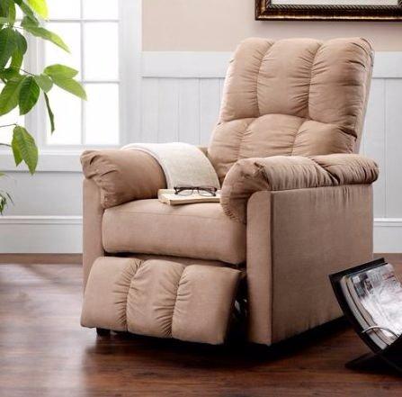 Amazon.com: Recliner Massage Lounge Chair-Beige Microfiber ...