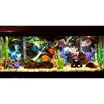 Otterly Pets Plastic Plants for Fish Tank Decorations Large Artificial Aquarium Decor and Accessories - 8-Pack 10