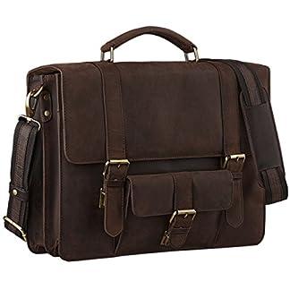 STILOIRD Borsa classica Affari Ambientazione Borsa insegnante laptop bag  15.6 borsa da ufficio in pelle marrone grande in pelle bovina ba0dfb523c9
