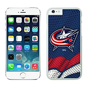 Columbus Blue Jackets iPhone 6 Plus Cases NHL 1 White NHLW12973