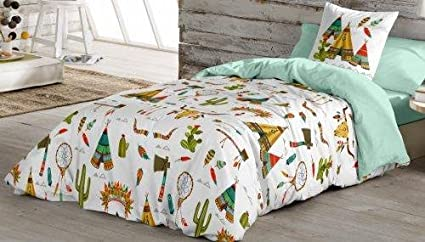 Cotton Art Funda Nordica Infantil Juvenil Tribal Cama De 105