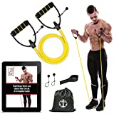 Anchor Sports Exercise Bands Workout Heavy Fitness Tube toning Resistance Bands men women