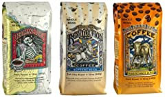 Raven's Brew's proprietary blends are unique in the coffee world, as well as quite distinct one from the other. We design these coffees for different occasions, different times of day, even different levels of caffeine content. They are desig...