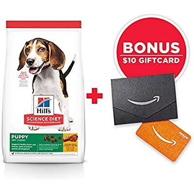 Hill's Science Diet Dry Dog Food, Puppy, Chicken Meal & Barley Recipe, 30 lb Bag w/Amazon Gift Card