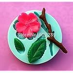 100% Food-grade Silicone Mold,1pc Peach Blossom Shapes Cake Chocolate Candy Jello Silicone