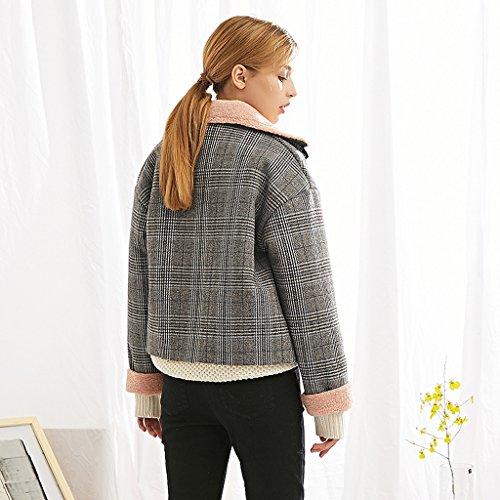 Li Lattice E Delle Rivestimento Corrispondenza colore Dimensioni Giacche Invernale Il Da Donna Shop Xiang Di Shi Lattice Vestito L YIwAqYrU