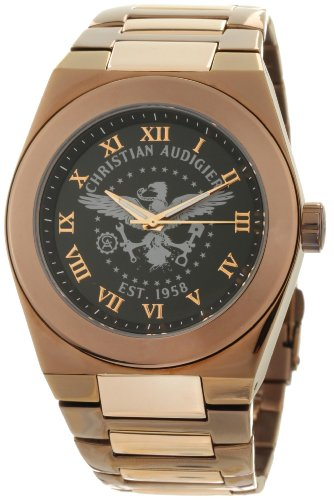 Christian Audigier Men's TWC 111 The World Of Christian Brown and Black Eagle Watch, Watch Central