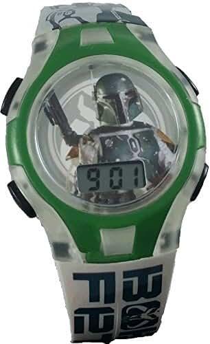 Star Wars Boba Fett Kid's LCD Watch w/ Flashing Lights