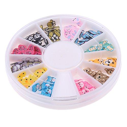 MagiDeal Caja de Adornos de Uñas de Arte Elegante Puede Usar para Decorar Casa de Acrílico Elegante de Multicolores