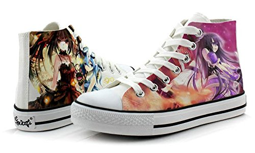 Date A Live Tokisaki Kurumi Yatogami Tohka Cosplay Shoes Canvas Shoes Sneakers Colourful 3d6Ktj