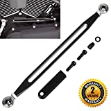 Shift Gear Linkage Black for Harley Davidson 1980-2016 Slotted Anodized Edge Cut CNC for Softail Road King Electra Glide Billet Aluminum BenkerMoto
