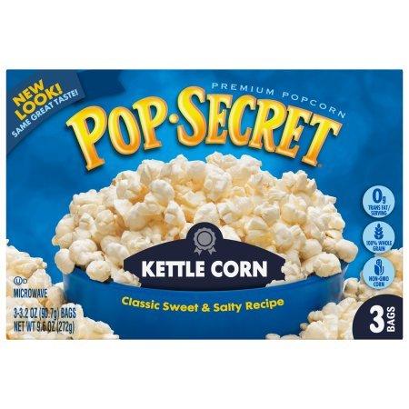 (Pop Secret Old Fashioned Kettle Corn 3 pk Microwave Popcorn 10.5 oz (Pack of 12))