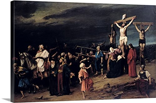 Mihaly (1844-1900) Munkacsy Gallery-Wrapped Canvas entitled Christ on the Cross, 1884 by greatBIGcanvas