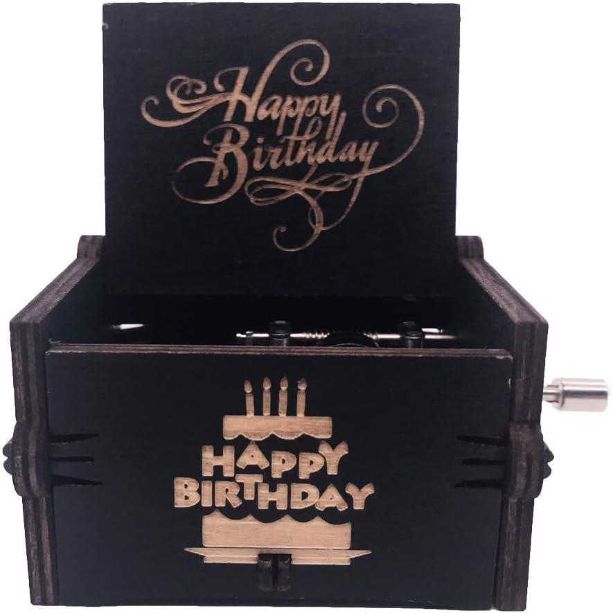 Jeu Joyeux Anniversaire Bleu Cadeaux YouTang Joyeux Anniversaire Bo/îte /à Musique /à manivelle Bo/îte /à Musique Bois sculpt/é Musicale