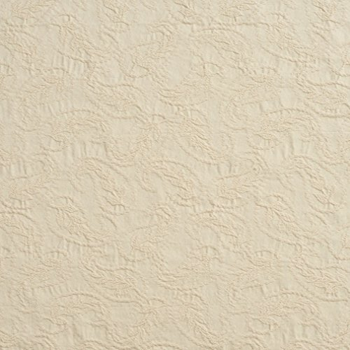 C453 Off White Textured Woven Paisleys Upholstery Fabric by The Yard ()