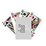 beatChong Conquered Greed Make freedom Buddha Quote Poker Playing Card Tabletop Board Game Gift