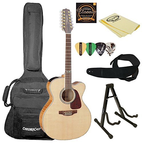(Takamine GJ72CE-12 NAT-KIT-2 Jumbo Cutaway 12-String Acoustic-Electric Guitar)