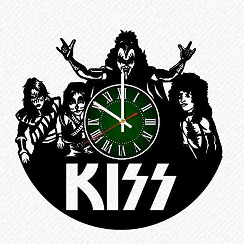 Kiss Band Vinyl Record 12 Inch Wall Clock