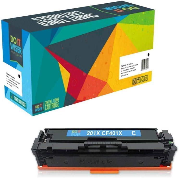 Do it Wiser Compatible Toner Cartridge Replacement for HP 201X 201A CF401A for use in HP MFP M277dw M252dw M277n M277c6 M277 M252n M252 (Cyan)