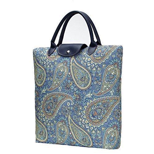 Borsa donna Signare in tessuto stile arazzo Pieghevoli Shopping alla moda Paisley