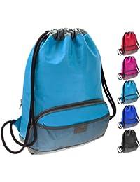 Waterproof Fabric Swim PE Gym Sports Bag Drawstring Sackpack Backpack for Kids, Men and Women