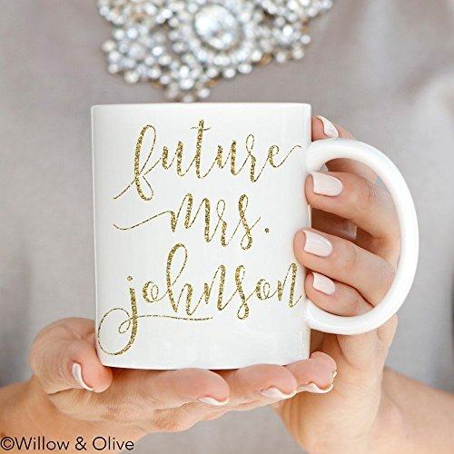 Future Mrs Mug - Faux Gold Personalized Engagement Mug - Cus