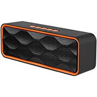 Wireless Bluetooth Speaker, Emopeak S1 Outdoor Portable Stereo Speaker with HD Audio and Enhanced Bass, Built-In Dual Driver Speakerphone, Bluetooth4.2, Handsfree Calling, FM Radio, TF Card Slot