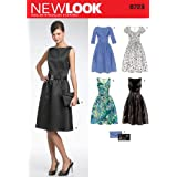 New Look Sewing Pattern 6723 Misses' Dresses, Size A (8-10-12-14-16-18)
