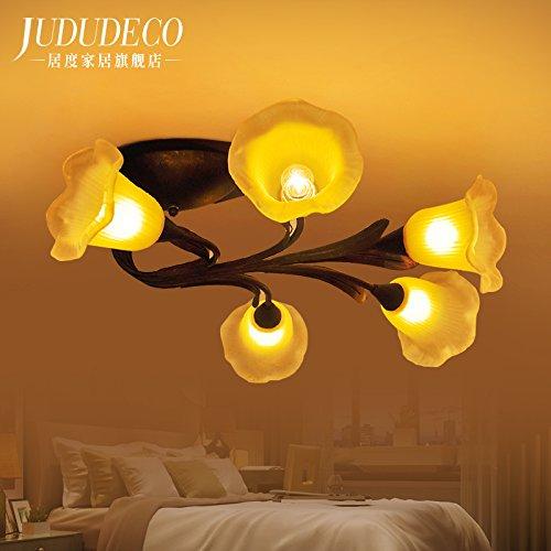 BLYC  5 Böhmische Land Wind Pastorale Romantisches Schlafzimmer Lampe  Wohnzimmer Beleuchtung Esszimmer Eisen Deckenlampe 750 * 300mm Jetzt Kaufen