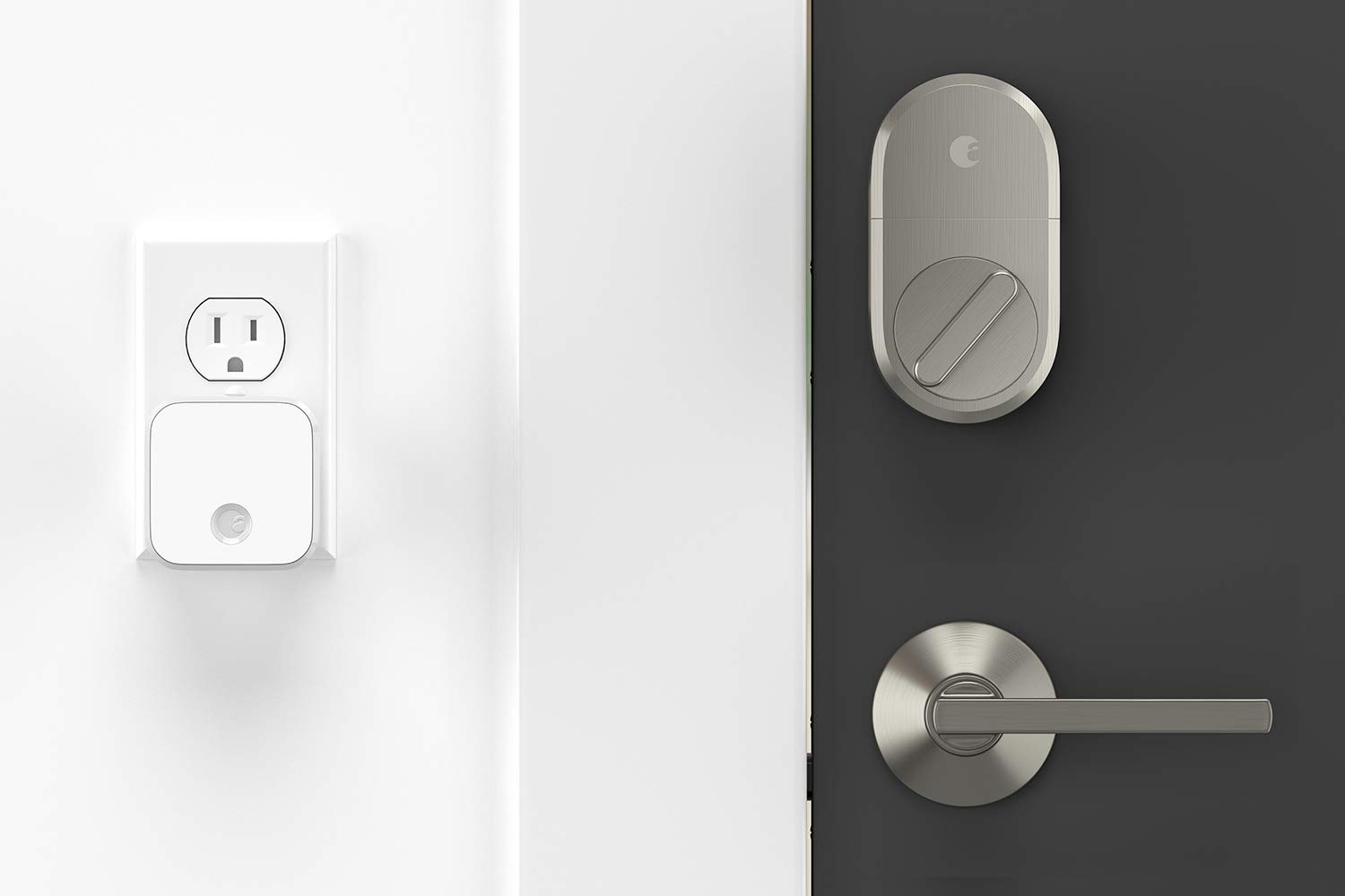 August Smart Lock + Connect, Satin Nickel by August (Image #3)