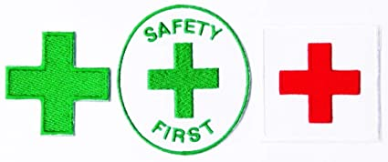Amazon com: Hospital Green Cross Mark Safety First Green Red