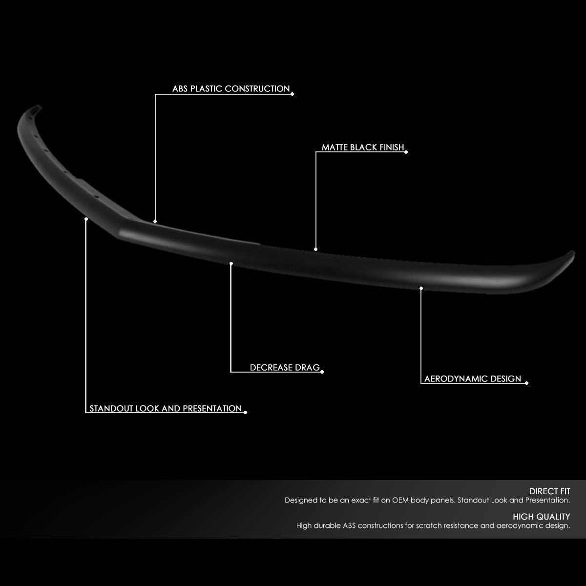 RA Style Front Bumper Lip Splitter Chin Spoiler Wing Body Kit for 11-14 Dodge Charger