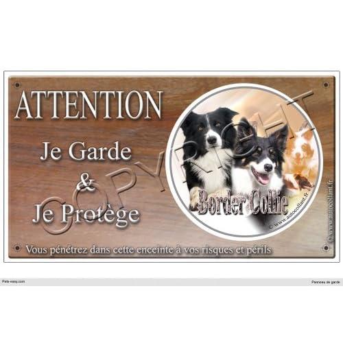 Panneau chien ou plaque Border-Collie-Agility 20 cm
