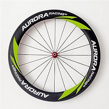 Aurora Racing 700 C 60 C-23 mm ruedas de carbono carretera bicicleta Clincher ruedas ligero para Shimano: Amazon.es: Deportes y aire libre