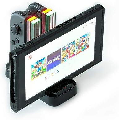 Nintendo Switch Joy Con Base de carga, Consola y Pro Controlador Base de carga. 4 en 1 con indicadores LED: Amazon.es: Videojuegos